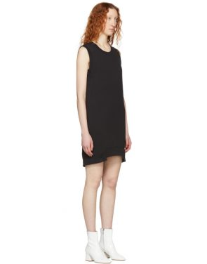 photo Black Sleeveless Sweatshirt Dress by MM6 Maison Martin Margiela - Image 2