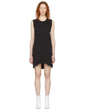 photo Black Sleeveless Sweatshirt Dress by MM6 Maison Martin Margiela - Image 1