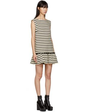 photo White and Black Striped Pom Pom Dress by Marc Jacobs - Image 2