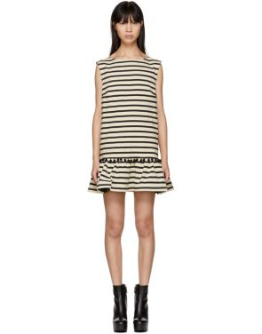 photo White and Black Striped Pom Pom Dress by Marc Jacobs - Image 1