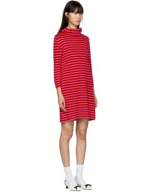 photo Red and Pink Striped Cowl Neck Dress by Marc Jacobs - Image 2