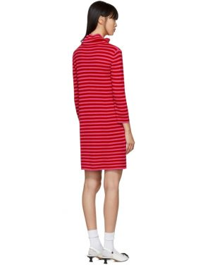 photo Red and Pink Striped Cowl Neck Dress by Marc Jacobs - Image 3