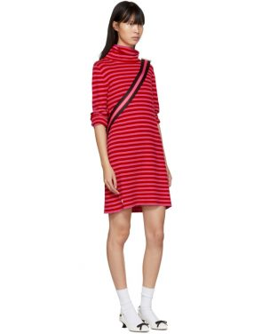 photo Red and Pink Striped Cowl Neck Dress by Marc Jacobs - Image 4