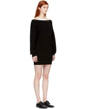 photo Black and Off-White Bi-Layer Dress by T by Alexander Wang - Image 2