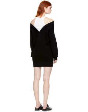 photo Black and Off-White Bi-Layer Dress by T by Alexander Wang - Image 3