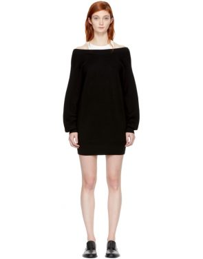 photo Black and Off-White Bi-Layer Dress by T by Alexander Wang - Image 1