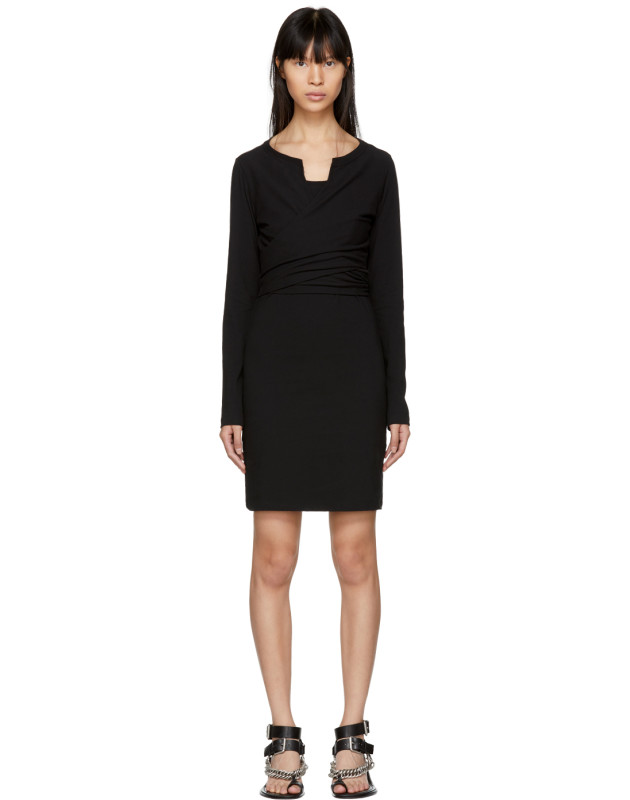 photo Black High Twist Dress by T by Alexander Wang - Image 1
