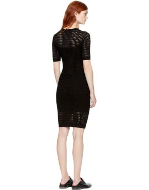 photo Black Float Stitch Dress by T by Alexander Wang - Image 3