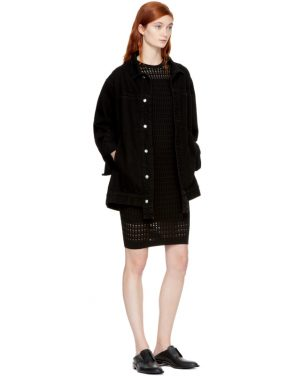 photo Black Float Stitch Dress by T by Alexander Wang - Image 4