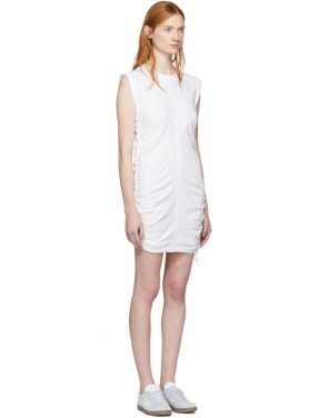 photo White High Twist Side Tie Dress by T by Alexander Wang - Image 2
