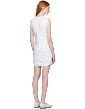 photo White High Twist Side Tie Dress by T by Alexander Wang - Image 3