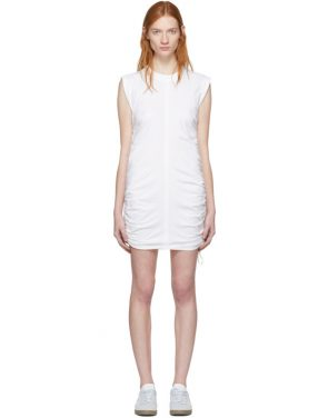 photo White High Twist Side Tie Dress by T by Alexander Wang - Image 1