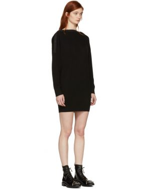 photo Black Snap Detail Off-the-Shoulder Dress by T by Alexander Wang - Image 2