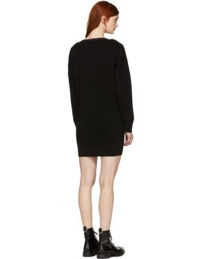 photo Black Snap Detail Off-the-Shoulder Dress by T by Alexander Wang - Image 3