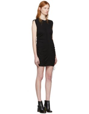 photo Black High Twist Side Tie Dress by T by Alexander Wang - Image 2