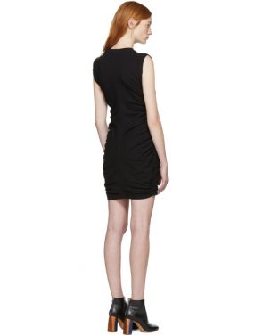 photo Black High Twist Side Tie Dress by T by Alexander Wang - Image 3