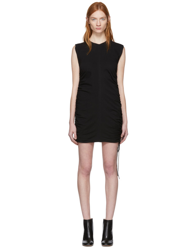 photo Black High Twist Side Tie Dress by T by Alexander Wang - Image 1
