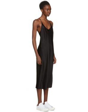 photo Black Wash and Go Slip Dress by T by Alexander Wang - Image 2