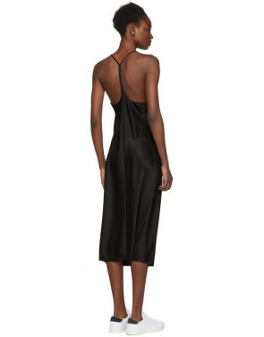 photo Black Wash and Go Slip Dress by T by Alexander Wang - Image 3