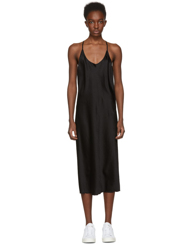 957af35ddf3d photo Black Wash and Go Slip Dress by T by Alexander Wang - Image 1
