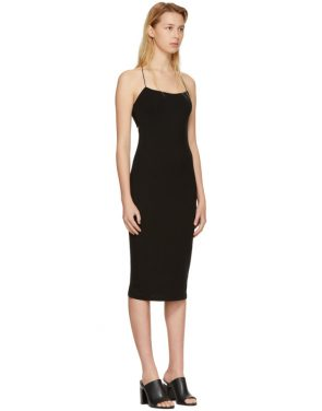 photo Black Fitted Back Slit Dress by T by Alexander Wang - Image 2