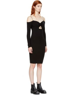 photo Black Long Sleeve Cut-Out Off-the-Shoulder Dress by T by Alexander Wang - Image 2