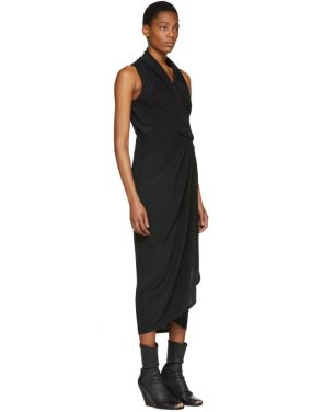 photo Black Silk Limo Dress by Rick Owens - Image 2