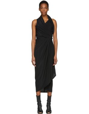 photo Black Silk Limo Dress by Rick Owens - Image 1