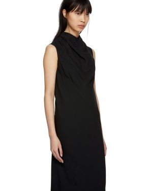 photo Black Bonnie Dress by Rick Owens - Image 4