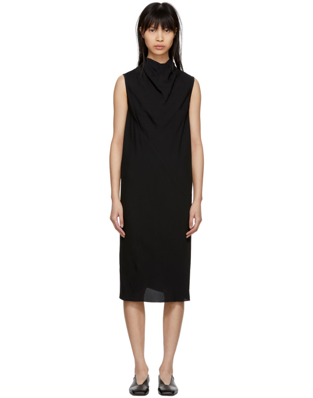 photo Black Bonnie Dress by Rick Owens - Image 1