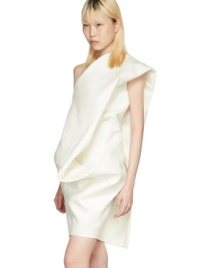 photo White Bouquet Tunic Dress by Rick Owens - Image 4