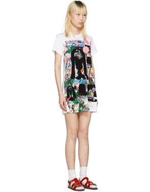 photo White Polka Dot City T-Shirt Dress by Comme des Garcons - Image 2
