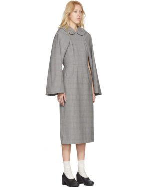 photo Black and White Wool Glen Check Dress by Comme des Garcons - Image 2