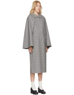 photo Black and White Wool Glen Check Dress by Comme des Garcons - Image 4