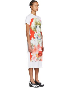 photo White Anime Girl T-Shirt Dress by Comme des Garcons - Image 2