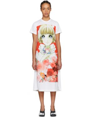 photo White Anime Girl T-Shirt Dress by Comme des Garcons - Image 1