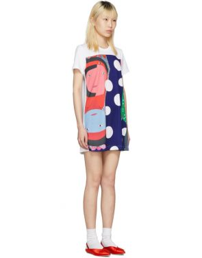 photo White Polka Dot Faces T-Shirt Dress by Comme des Garcons - Image 2