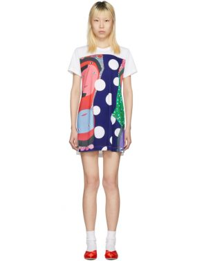 photo White Polka Dot Faces T-Shirt Dress by Comme des Garcons - Image 1