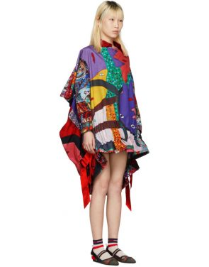photo Multicolor Mixed Graphic Dress by Comme des Garcons - Image 2