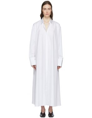 photo White Esteemed Shirt Dress by Jil Sander - Image 1