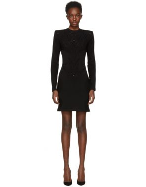 photo Black Lace Dress by Balmain - Image 1
