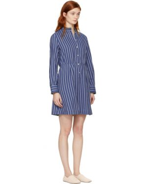photo Blue Striped Lili Dress by A.P.C. - Image 2