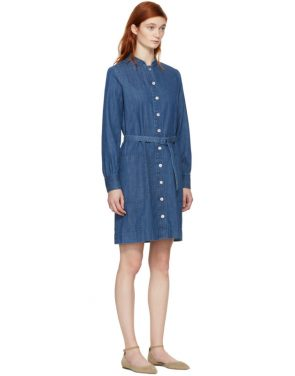 photo Indigo Denim Jane Dress by A.P.C. - Image 2