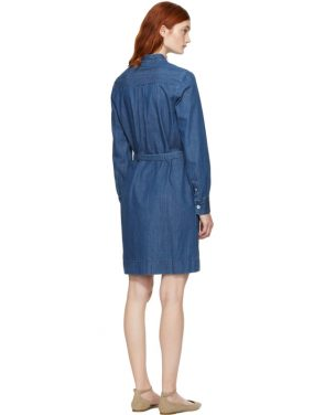 photo Indigo Denim Jane Dress by A.P.C. - Image 3