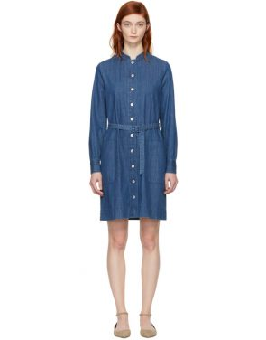 photo Indigo Denim Jane Dress by A.P.C. - Image 1
