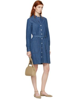 photo Indigo Denim Jane Dress by A.P.C. - Image 4