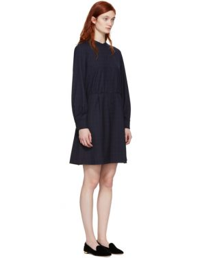 photo Navy Audrey Belted Dress by A.P.C. - Image 2