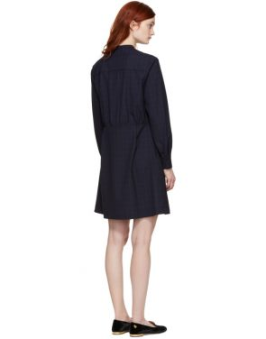 photo Navy Audrey Belted Dress by A.P.C. - Image 3