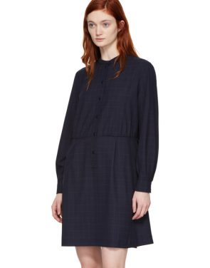 photo Navy Audrey Belted Dress by A.P.C. - Image 4