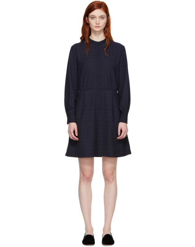 photo Navy Audrey Belted Dress by A.P.C. - Image 1